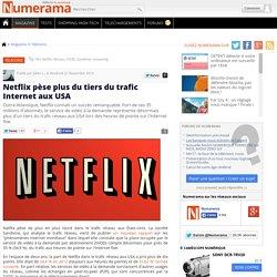 Netflix pèse plus du tiers du trafic Internet aux USA