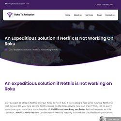 Netflix Not Working on Roku - Netflix Roku Issues