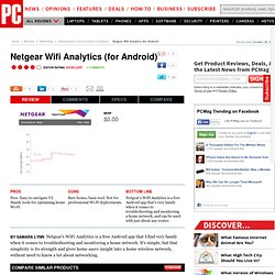 Netgear Wifi Analytics (for Android) Review