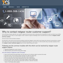 netgear router toll free number