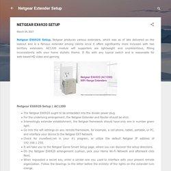 NETGEAR EX6920 SETUP