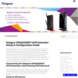 Netgear Range Extender Configuration