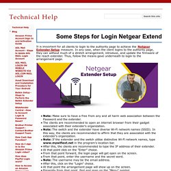 Some Steps for Login Netgear Extender Setup - Technical Help