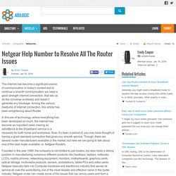 Netgear Help Number to Resolve All The Router Issues