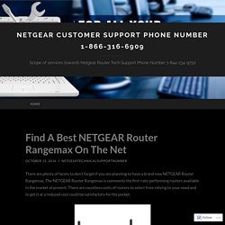 Netgear Customer Support phone Number 1-866-316-6909