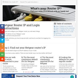 Netgear Router IP and Login Instructions