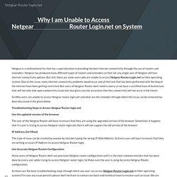 Netgear Router login.net