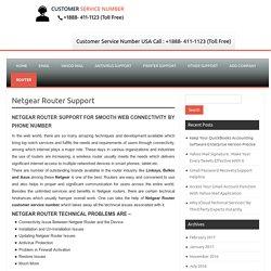 Netgear Router Support @ 1-888-411-1123