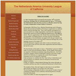 Netherlands America University League NACHO