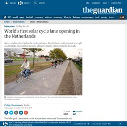 World's first solar cycle lane opening in the Netherlands