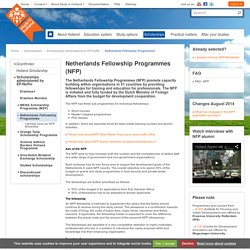 Netherlands Fellowship Programmes (NFP) — Study in Holland