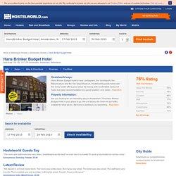 Hans Brinker Budget Hotel in Amsterdam, Netherlands