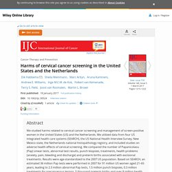 Harms of cervical cancer screening in the United States and the Netherlands - Habbema - 2017 - International Journal of Cancer