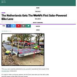 The Netherlands Gets The World's First Solar-Powered Bike Lane