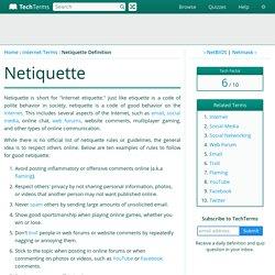 Netiquette Definition