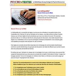 Nétiquette - Savoir-vivre sur le web