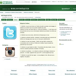 Twitter - Nétiquette - University of Alberta Library Guides at University of Alberta Libraries