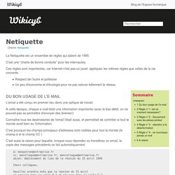 Netiquette - Wikicyb