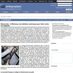 Netjournées : A Mulhouse, des tablettes numériques pour lutter contre les inégalités