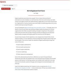 Get the Best of Digital Media and Software Deve... - Netprophets Cyberworks - Quora