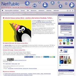 Liste de réseaux sociaux libres : solutions alternatives à Facebook, Twitter…