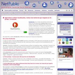 Apprendre à utiliser DuckDuckGo, moteur de recherche qui respecte la vie privée : 6 tutoriels