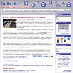 Ateliers au Centre Pompidou pour écrire des articles sur Wikipédia