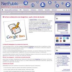 Ecriture collaborative avec Google Docs : quels critères de réussite