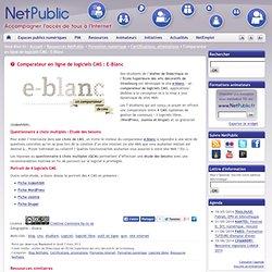 Comparateur en ligne de logiciels CMS : E-Blanc