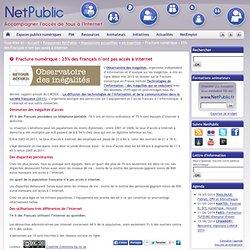 Fracture numérique : 25% des Français n'ont pas accès à Internet
