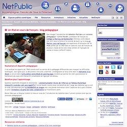 Un iPad en cours de français : blog pédagogique