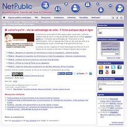 Laline74 praTIC : site de méthodologie de veille : 5 fiches pratiques déjà en ligne