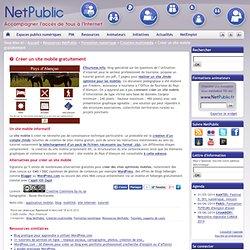 Créer un site mobile gratuitement