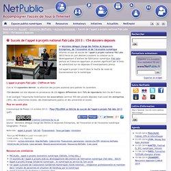 Succès de l'appel à projets national Fab Labs 2013 : 154 dossiers déposés