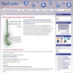 Non-usagers du numérique : 6 articles d'analyse