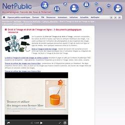 Droit à l'image et droit de l'image en ligne : 3 documents pédagogiques ressource