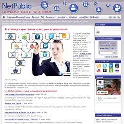 4 fiches pratiques réseaux sociaux pour les professionnels