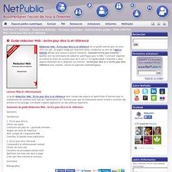 Guide rédaction Web : écrire pour être lu et référencé