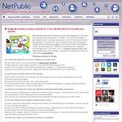 Usage des réseaux sociaux chez les 8-17 ans (étude CNIL) et 9 conseils aux parents