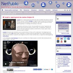 Sculptris,logiciel gratuit de création 3D