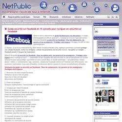 Net public: 15 conseils pour naviguer en sécurité sur facebook