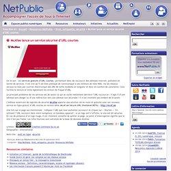 McAfee lance un service sécurisé d'URL courtes