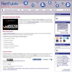 Guide d'utilisation Deezer