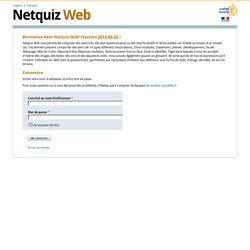 Netquiz Web - Accueil