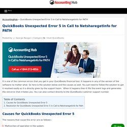 QuickBooks Unexpected Error 5 in Call to Netsharegetinfo for PATH - AccountingHub