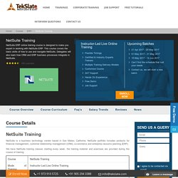 NetSuite Training Online With Live Projects And Job Assistance