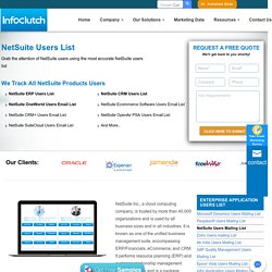 NetSuite Users List - List of Companies Using NetSuite