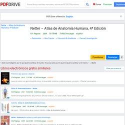 Netter – Atlas de Anatomía Humana, 4ª Edición - PDF Drive