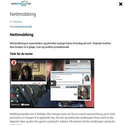 Om nettmobbing