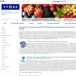 Nettoyage : deux projets de recherche 2012 pour réduire les consommations d'eau et de produits chimiques